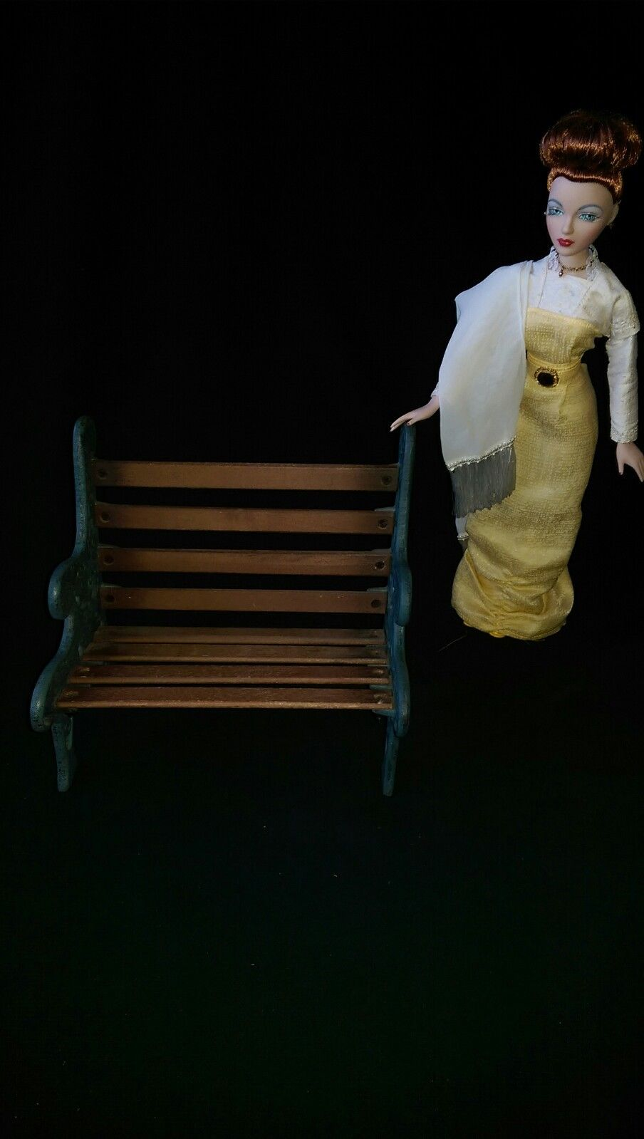16 Quot Doll Furniture Park Bench Cast Iron Wood Victorian
