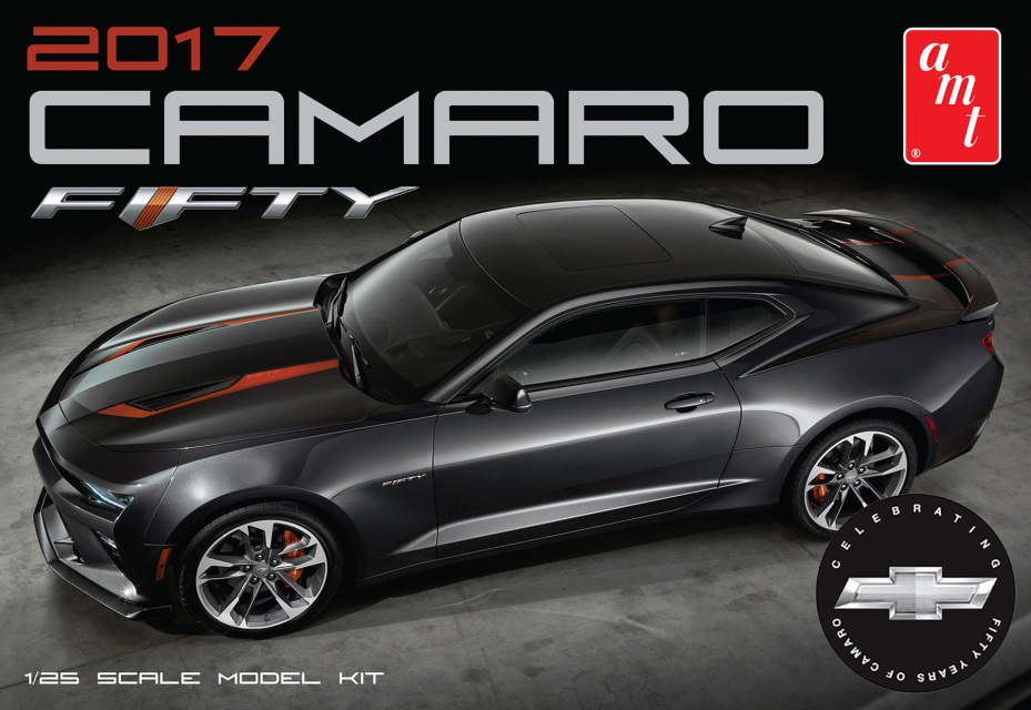 buy 2017 chevy camaro fifty 50th anniversary 1 25 scale plastic model kit amt. Black Bedroom Furniture Sets. Home Design Ideas